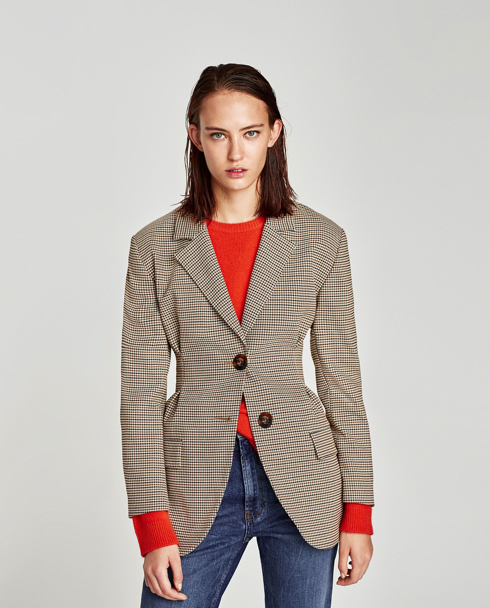 2de1b94929 CHECKED JACKET WITH DARTS