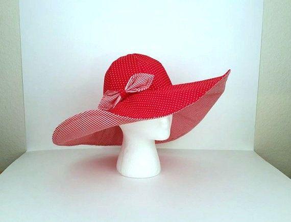 Red Hatter HatKentucky Derby Hat Church Hat by DeerwoodCreekGifts