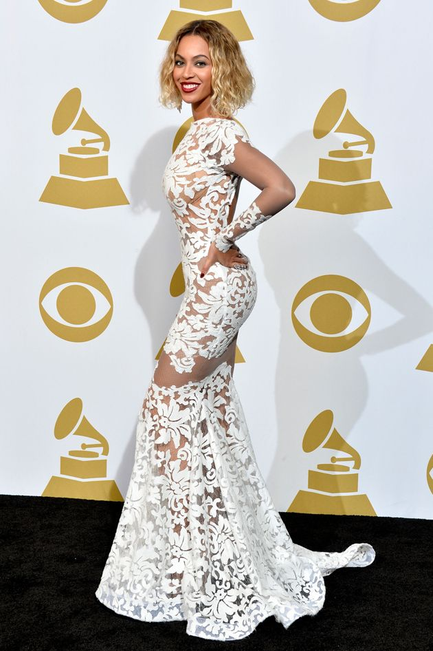 Beyonce In Michael Costello Grammy Dresses Nice Dresses Beyonce Grammy Dress
