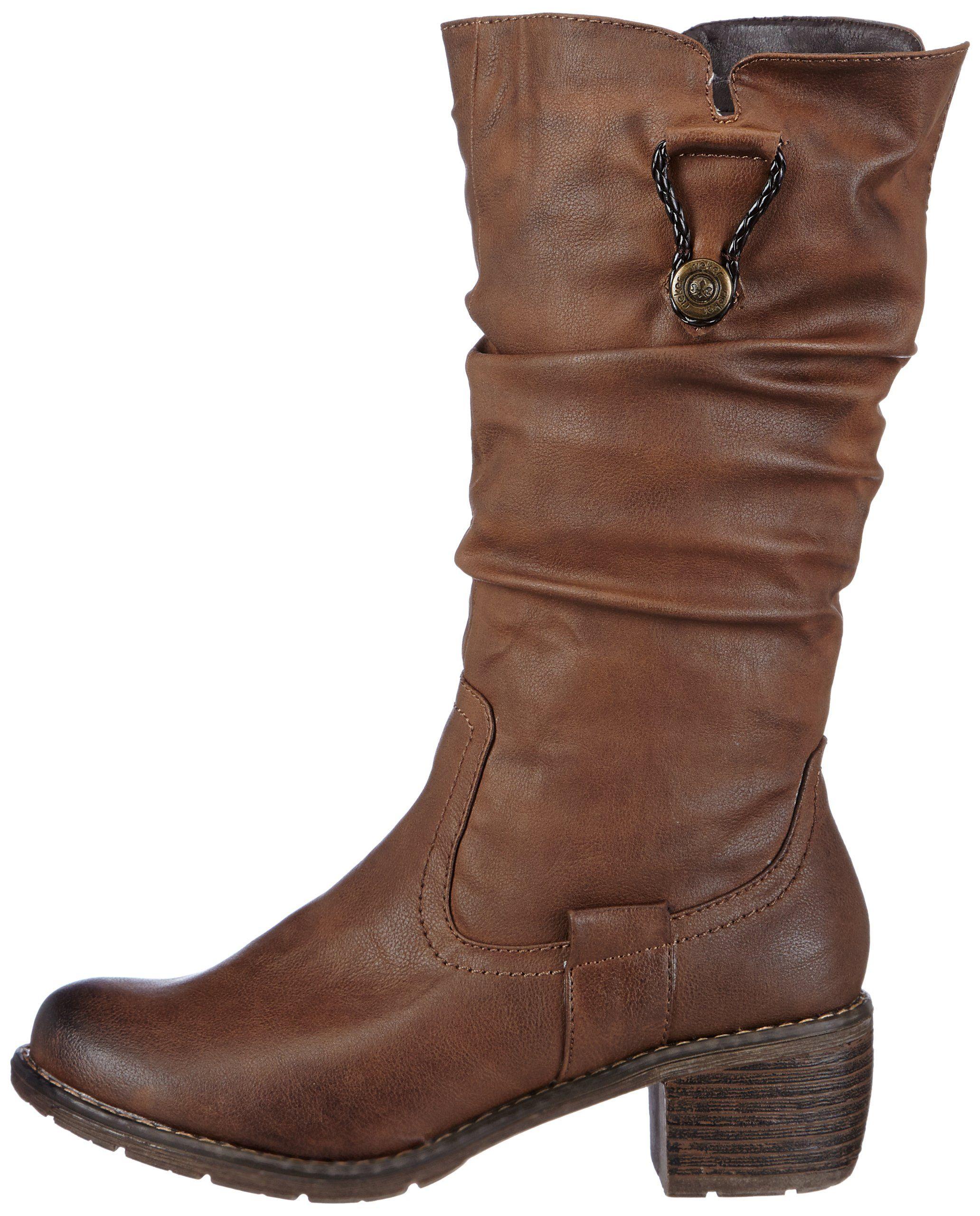 Rieker Womens 99879 Boots Brown · Cowboy Boot