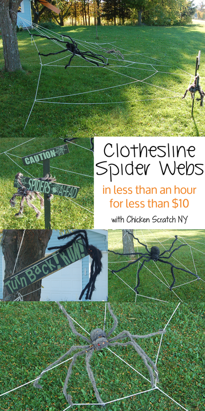 Create your own Giant Clothesline Spiderwebs in an afternoon for less than $10