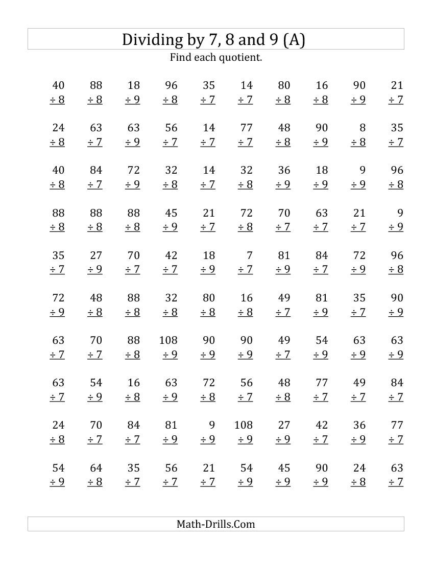 single digit division worksheet 2 Dessert ideas – 5th Grade Math Division Worksheets
