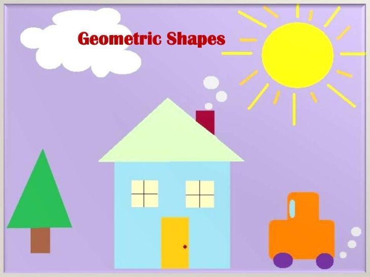 Geometric shape art for kids