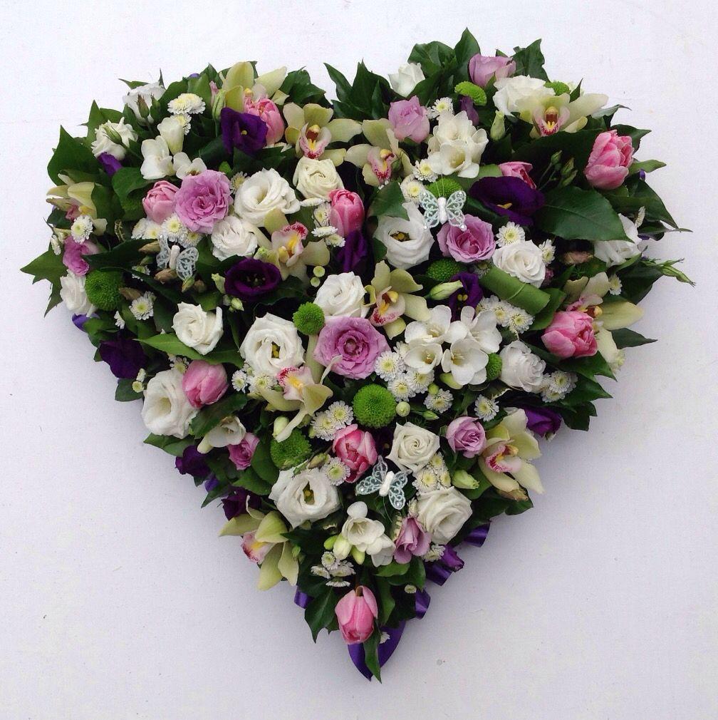 Heart Design Floral Tribute Funerals Pinterest Funeral