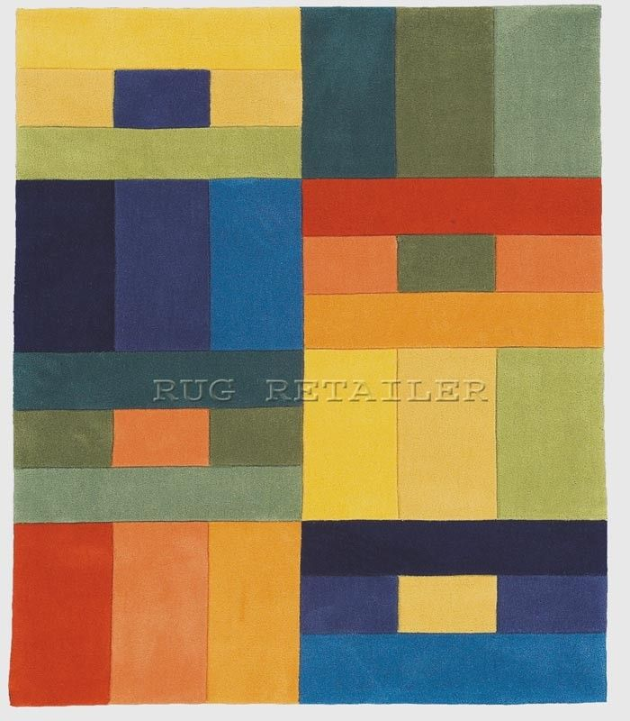 Hy Rugs In Multi Coloured Squares Design 733 The Rug Retailer