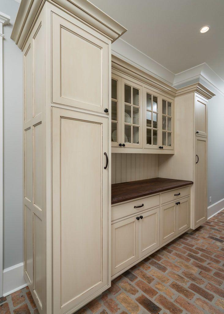 Custom Butler Pantry Cabinet with mullion frame glass ...