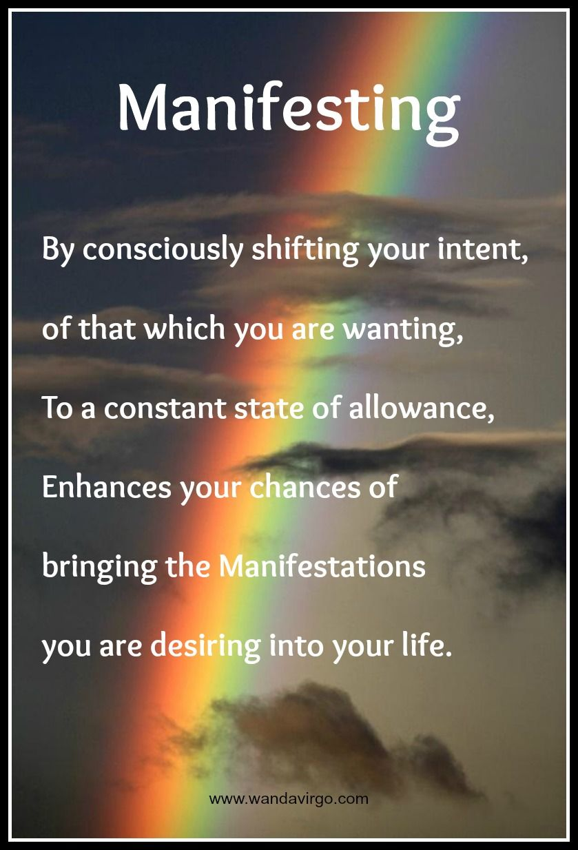 Manifest your dreams through your intentions and focusing
