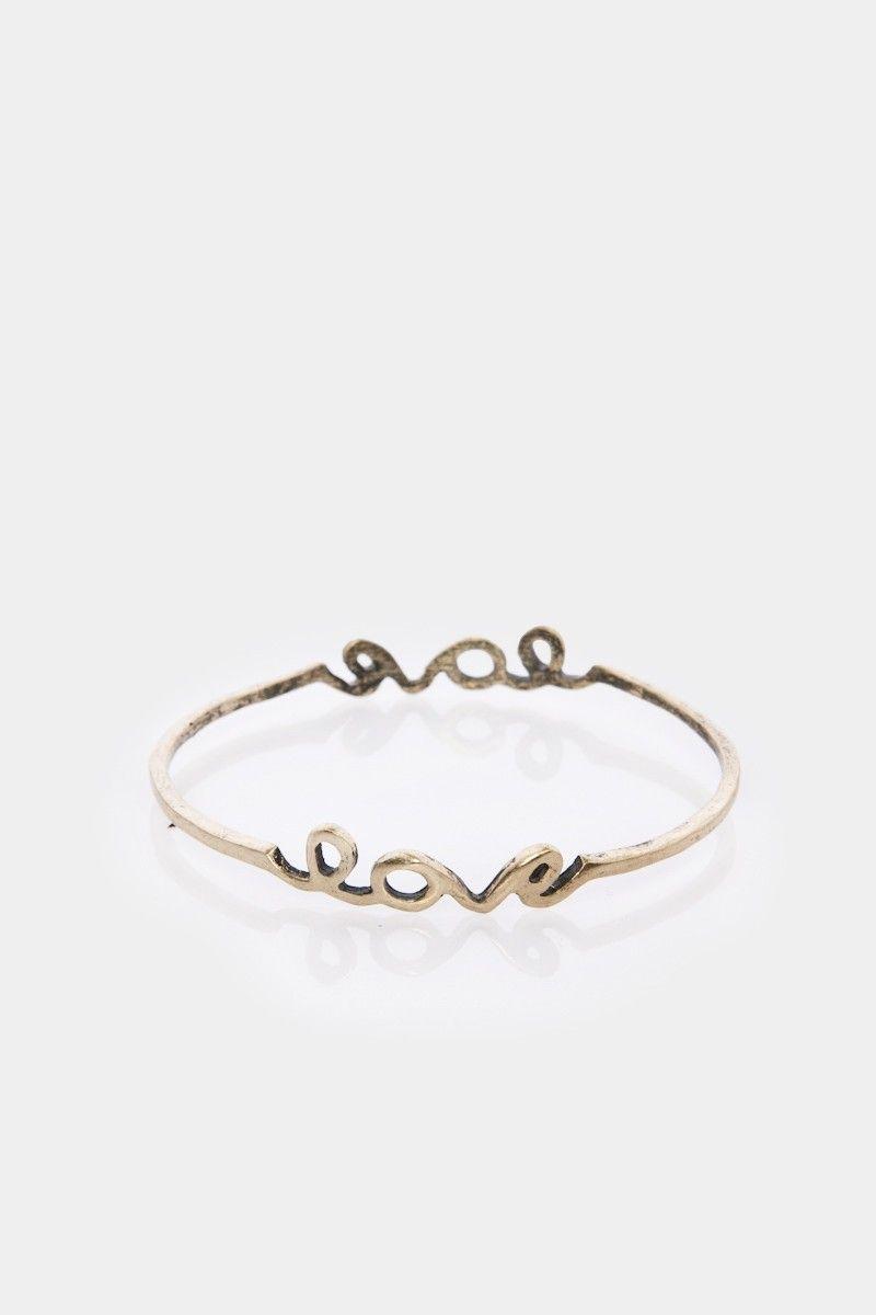 Shopsosie style love bangle in brass wish list pinterest