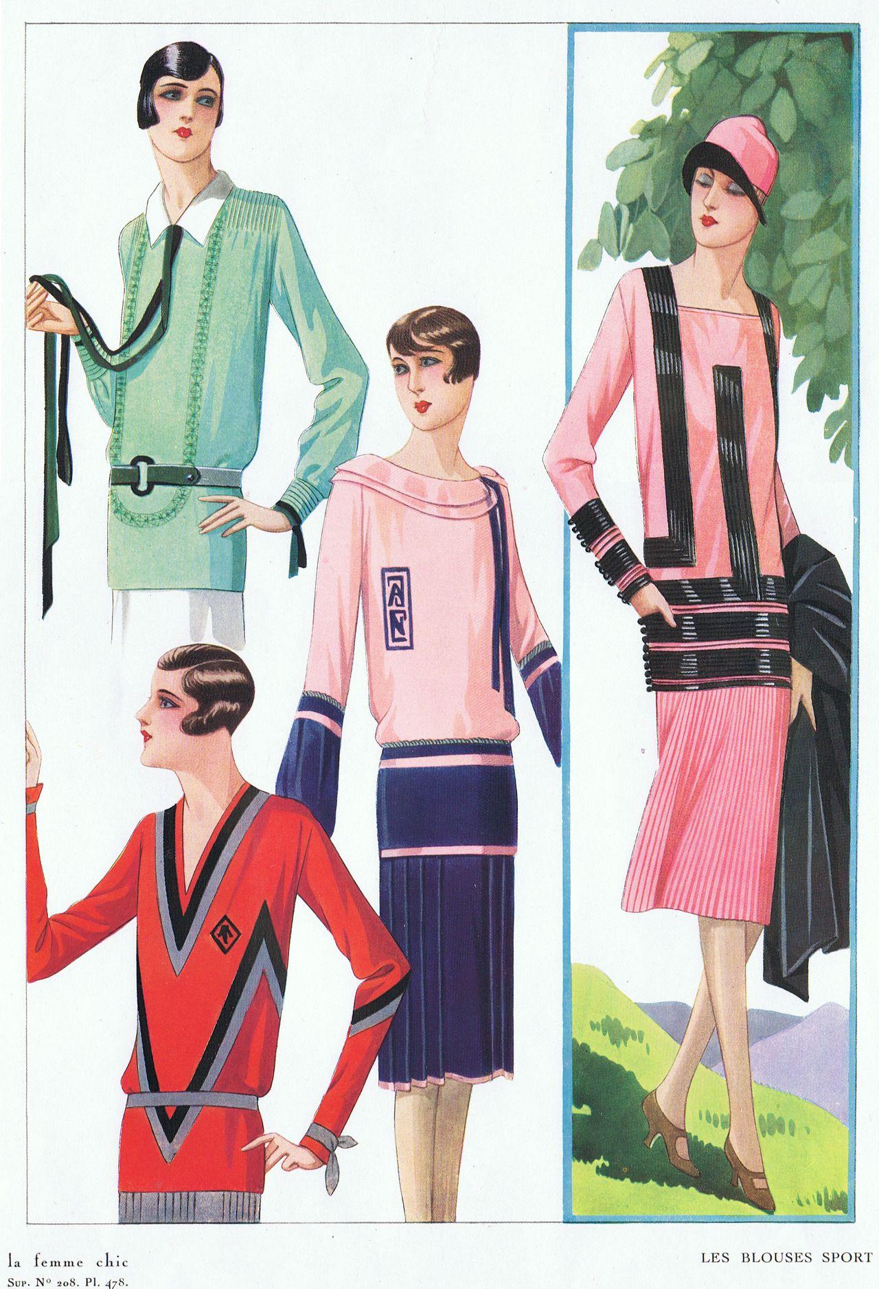 1920s Casual Wear 1920s Fashion 1920 S Fashion Fashion Illustration [ 1878 x 1280 Pixel ]