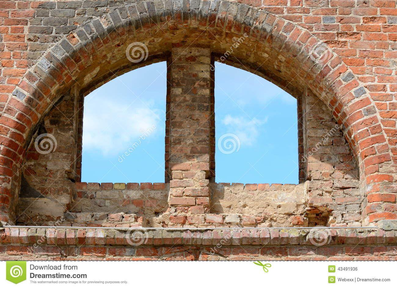 Antique Windows Antique Windows Half Round Antique Window Stock Photo Image
