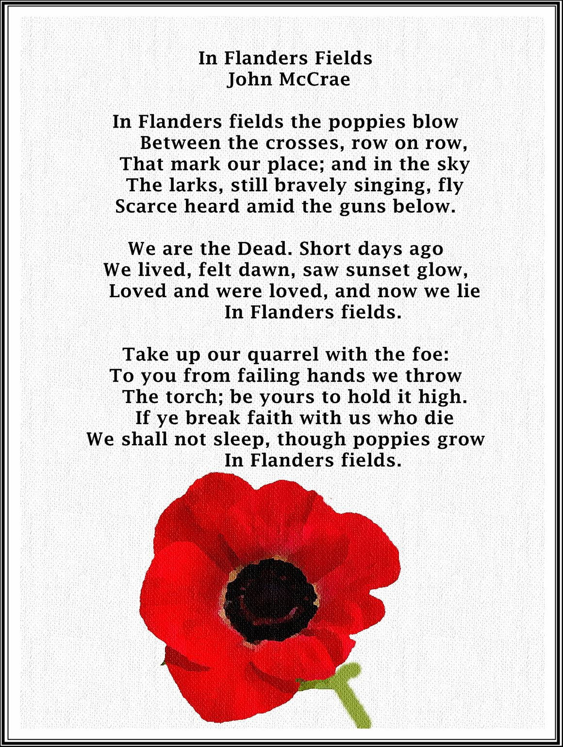 In flanders fields pinterest flanders field and poem the practice of wearing poppies takes its origin from the poem in flanders fields 1915 written by lieut description from pinterest mightylinksfo