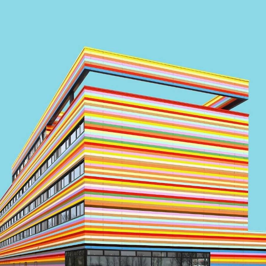 Vibrant Colorful Architecture Photography Architecture