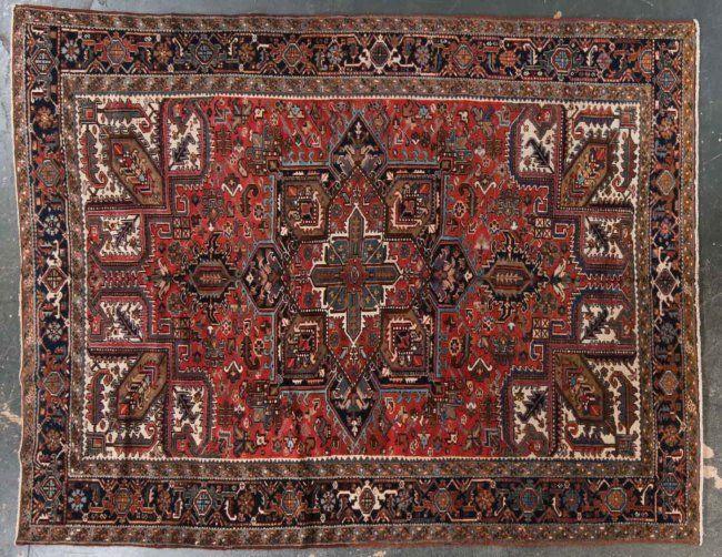 herez carpet   Semi-antique Herez carpet, approx. 9.7 x 12 : Lot 483