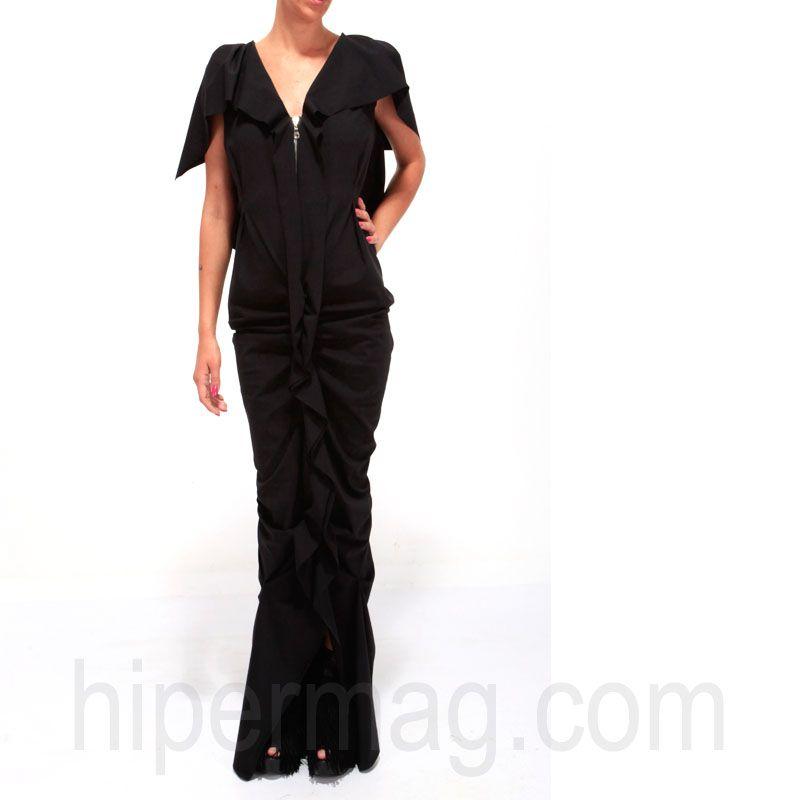 Екстравагантна красива рокля в черно