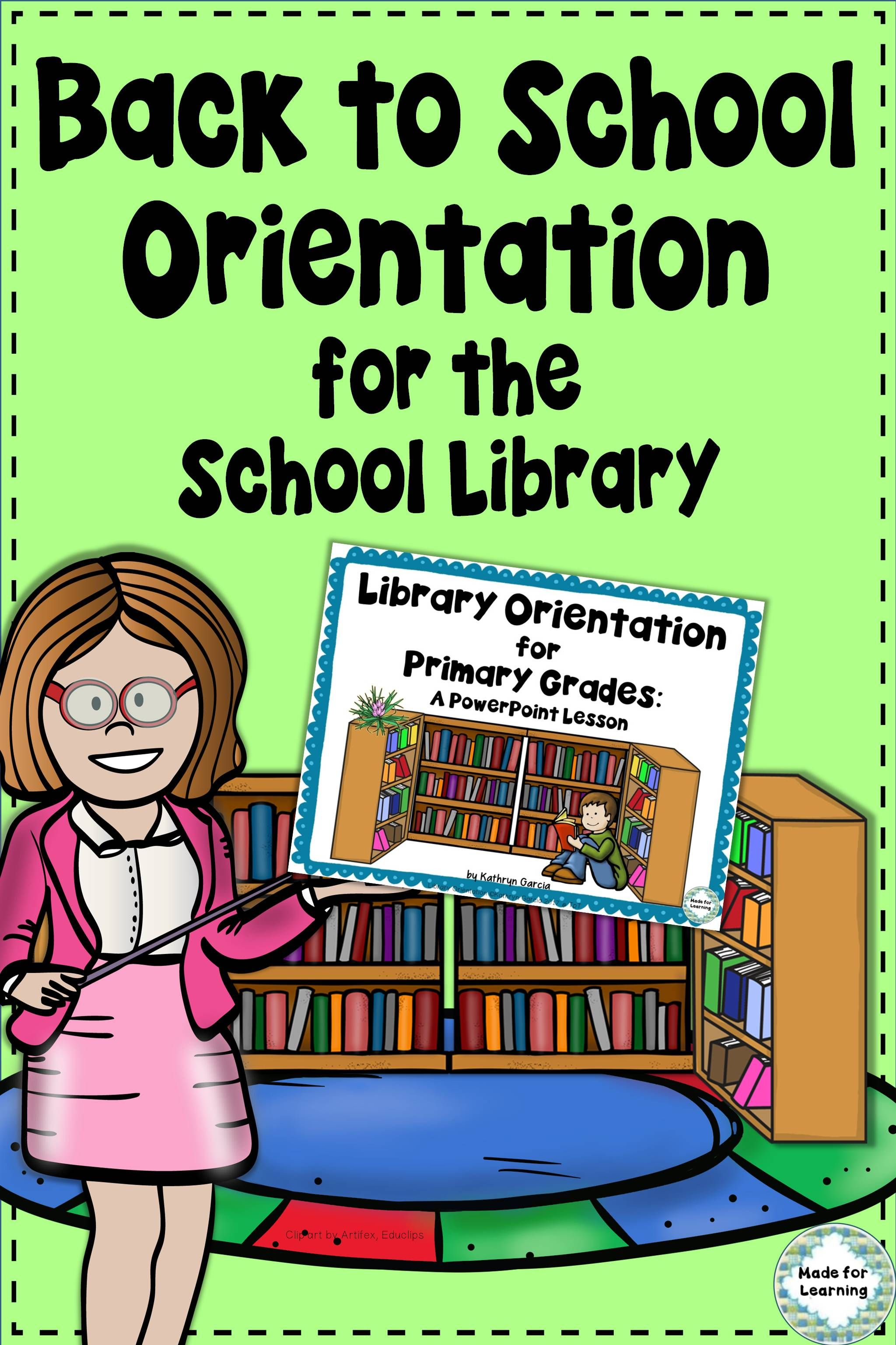 A Fun Back To School Powerpoint Lesson To Use For Primary Orientation In The School Library