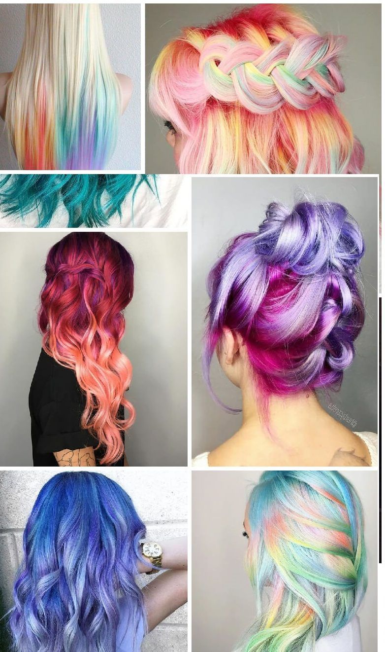 Stunningly styled unicorn hair shade concepts fashion and ladies