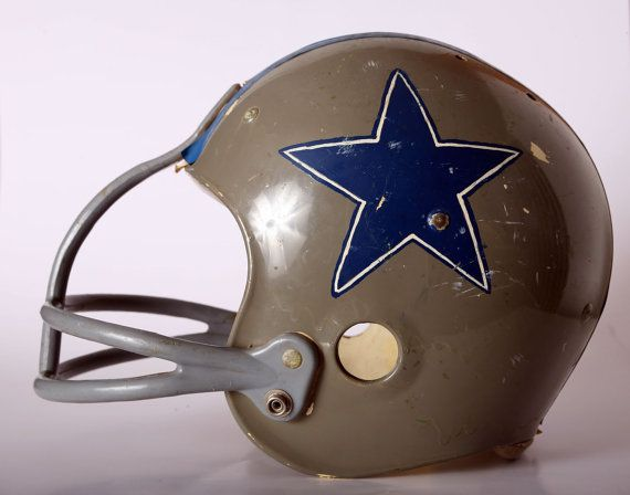934a10b34 Vintage Hutch Youth Football Helmet with Dallas Cowboys Hand Painted Star  by TheVintageHog on Etsy.com
