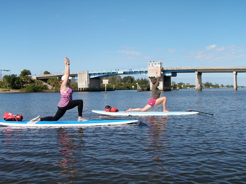 paddle board yoga WHAT!!!