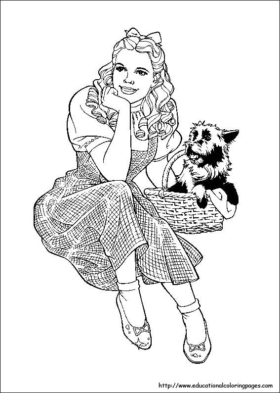 Wizard Of Oz Printable Coloring Pages Wizard Of Oz Coloring Pages