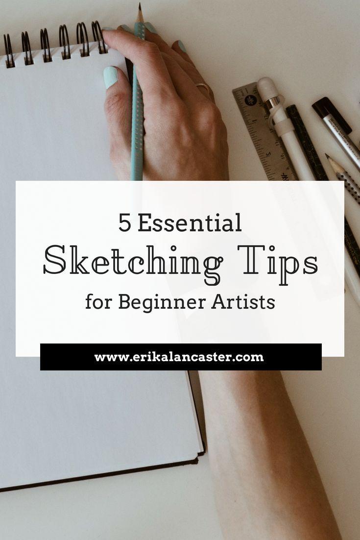 Essential Sketching Tips for Beginner Artists - Art tips- Art blogs  #drawing #sketchbook #sketch #arttutorials