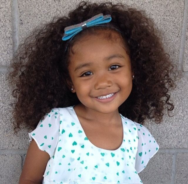 Beautiful Baby Girl With Curly Hair And A Sweet Smile With Images