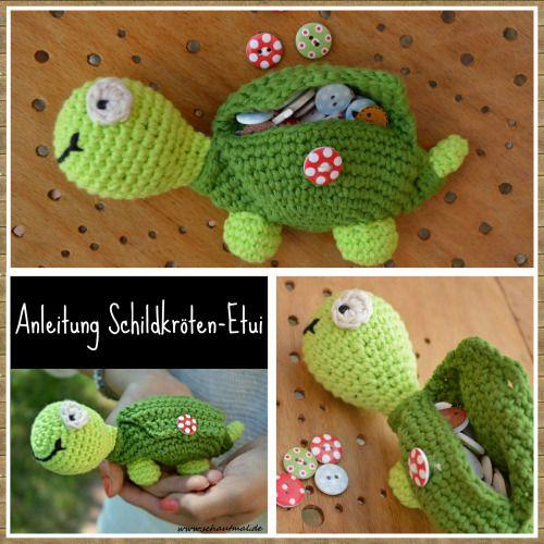 Schildkröten-Etui - Free Crochet Pattern in German by Schautmal.de ...