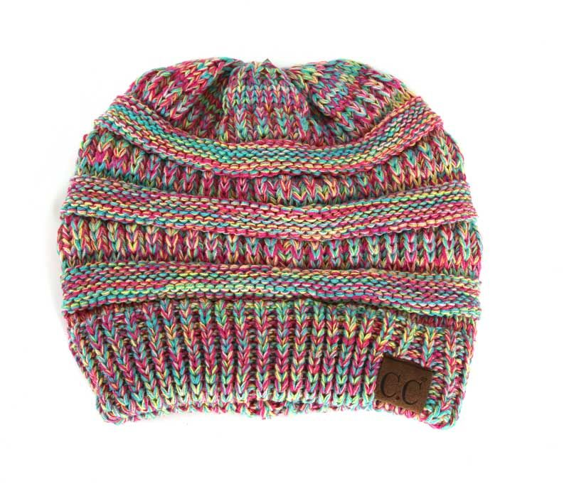 cecb888cca4 C.C. Exclusives Cable Knit Beanie in Candy Multi Color YJ816-CANDYMULTI