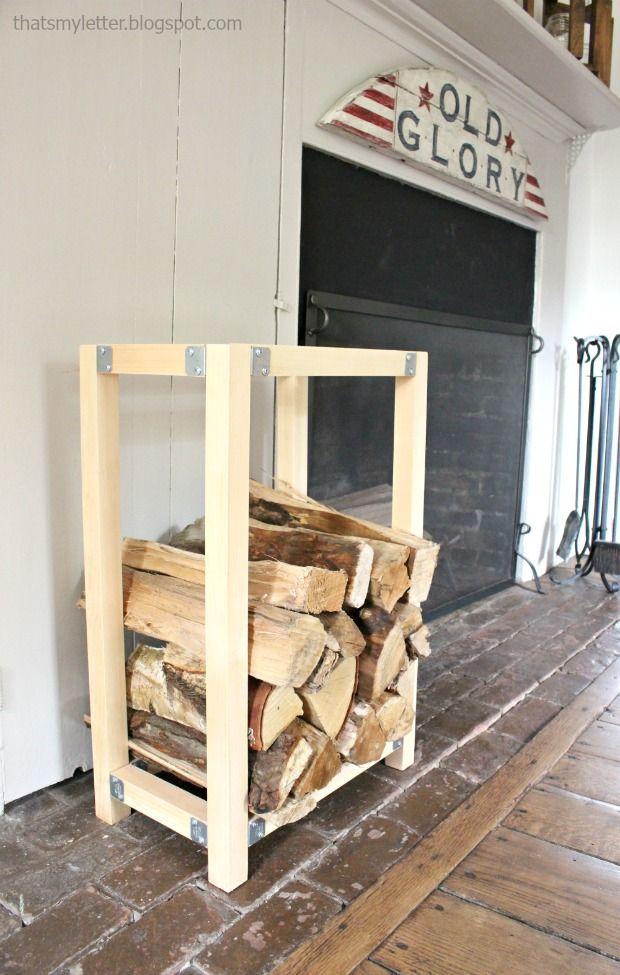 That S My Letter Build An Indoor Log Holder Indoor Firewood Rack Indoor Log Holder Firewood Storage Indoor