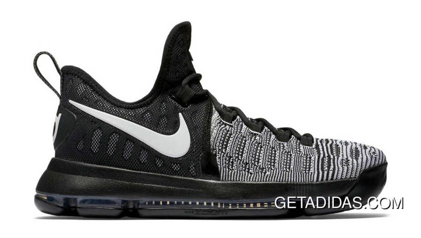 Hot Nike Kd 9 Black Black White TopDeals