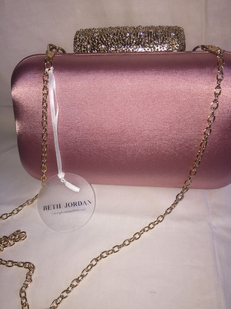b5d1c947ce87 Beth Jordan Pink Clutch Bag With Removable Strap Brand New       !!!!!