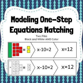 Modeling One Step Equations Matching Algebra Solving Model
