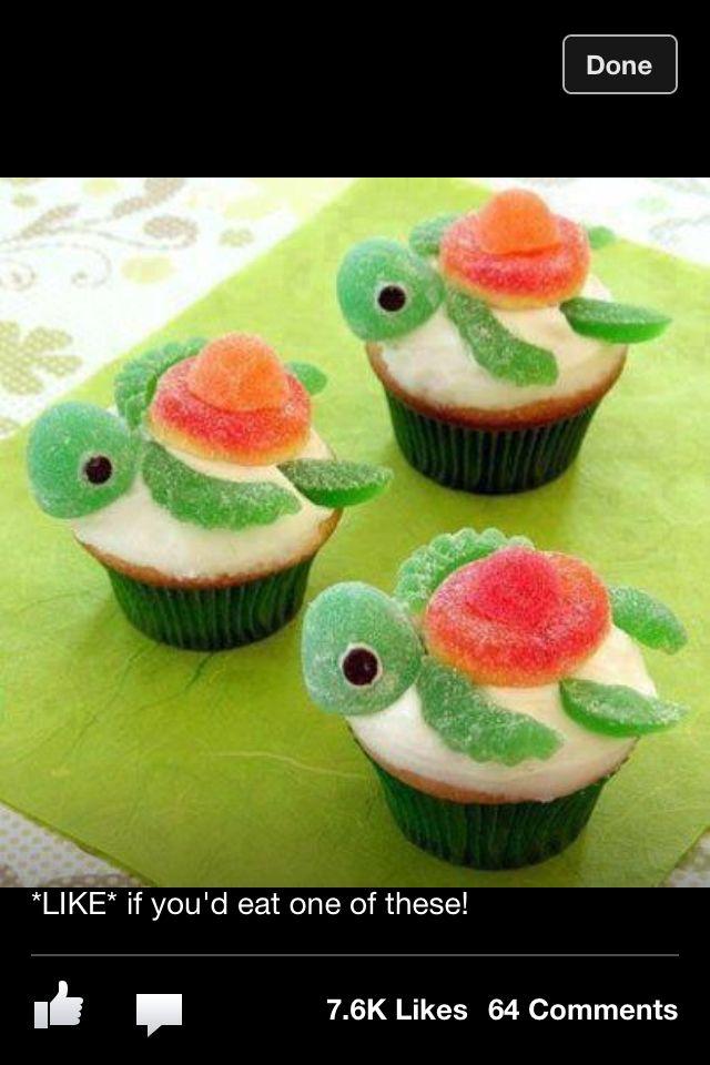 Turtle cupcakes - yum