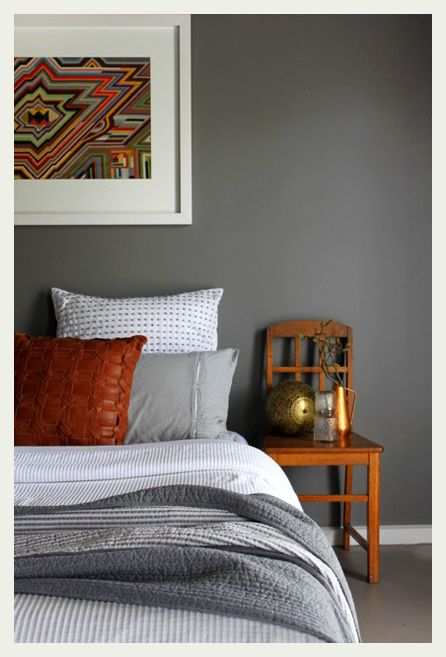 Grey And Rust Orange Look So Great Together Bedroom