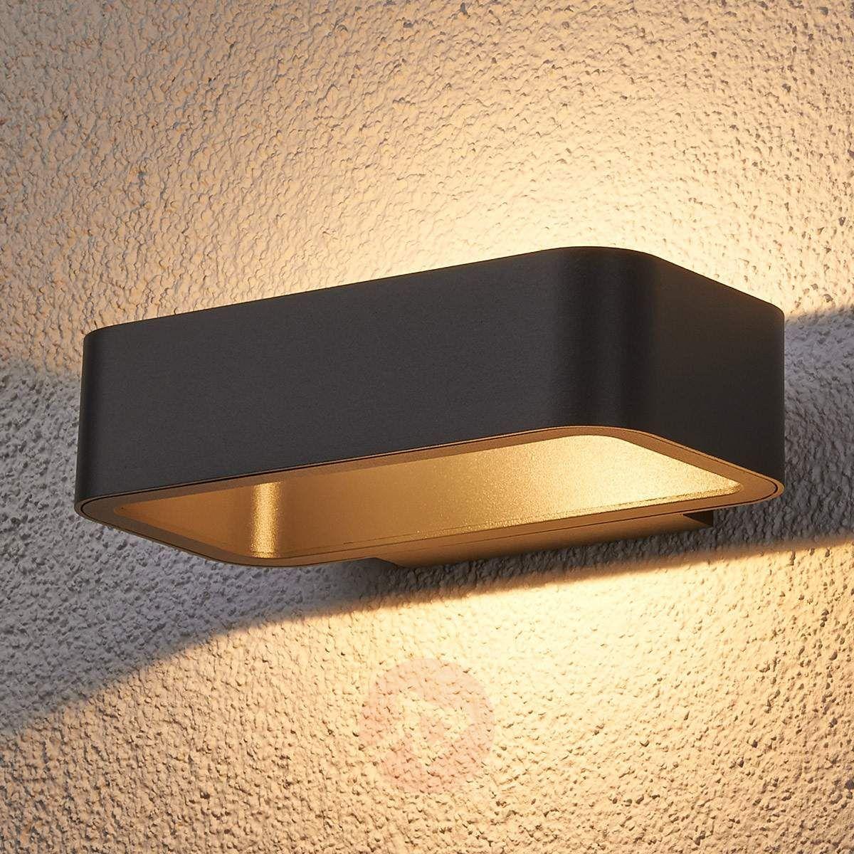 Jami LED outdoor wall light made of aluminium-9616028-30 | Garden ...