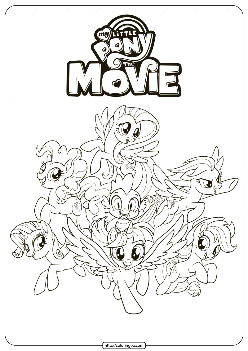 Mlp My Little Pony The Movie Coloring Pages My Little Pony Coloring My Little Pony Printable My Little Pony Twilight