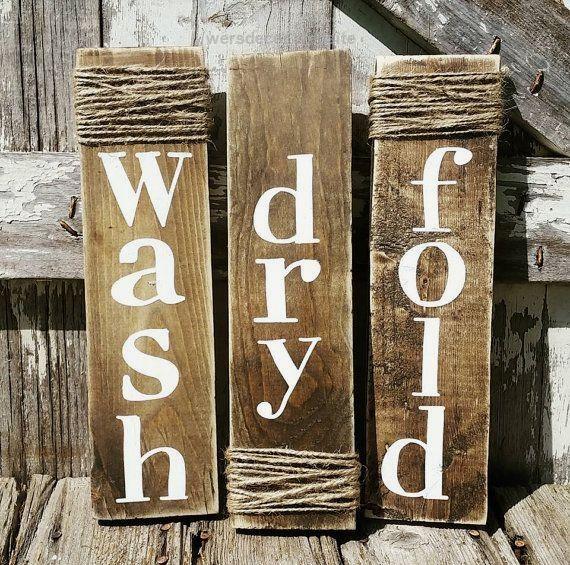 Wash Dry Fold Sign