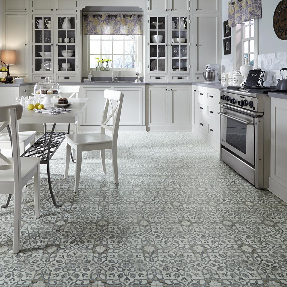 Flooring For A 1970s Kitchen Or Living Area Moroccan Style Filigree Luxury Vinyl Flooring From Ma In 2020 Kitchen Flooring Trends Vinyl Flooring Kitchen Kitchen Vinyl