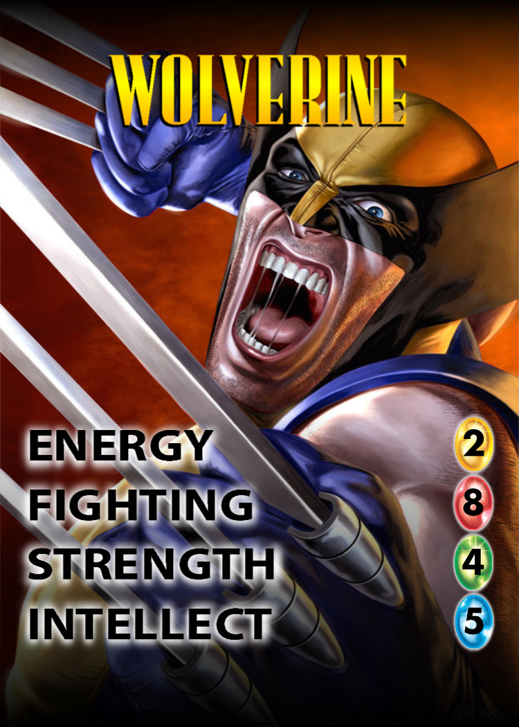 New Wolverine OverPower character card. Marvel
