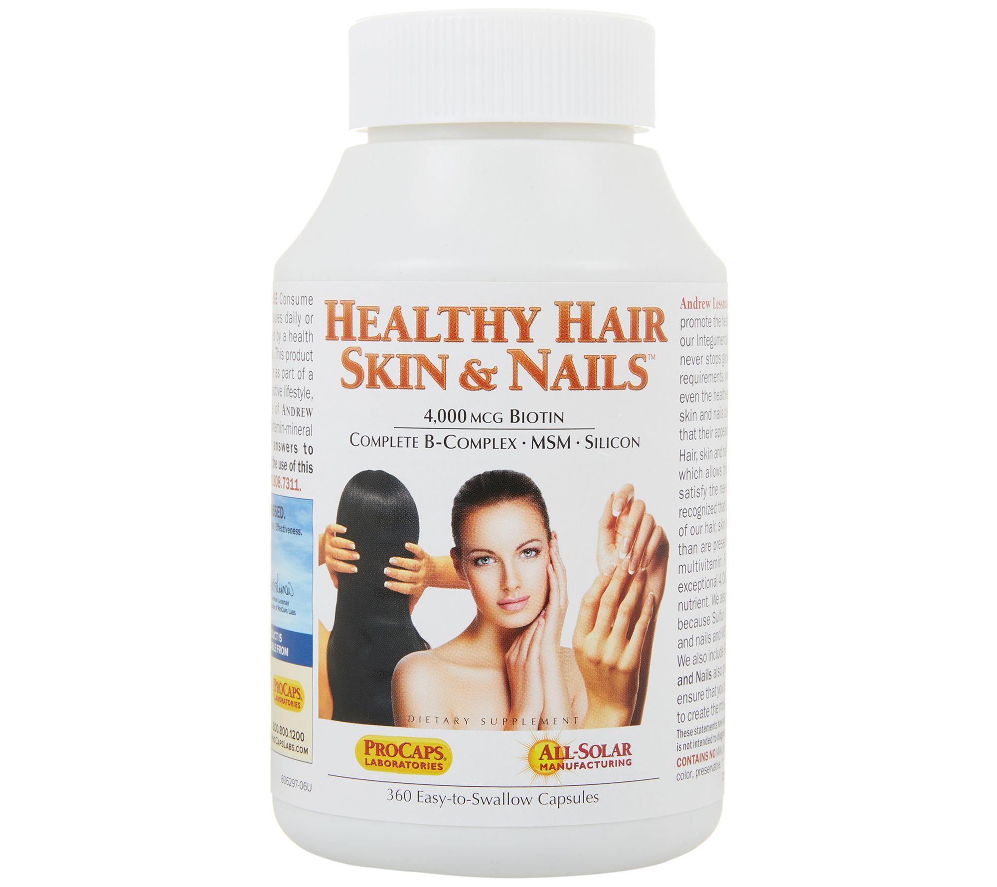 Andrew Lessman Healthy Hair, Skin & Nails 360 Capsules