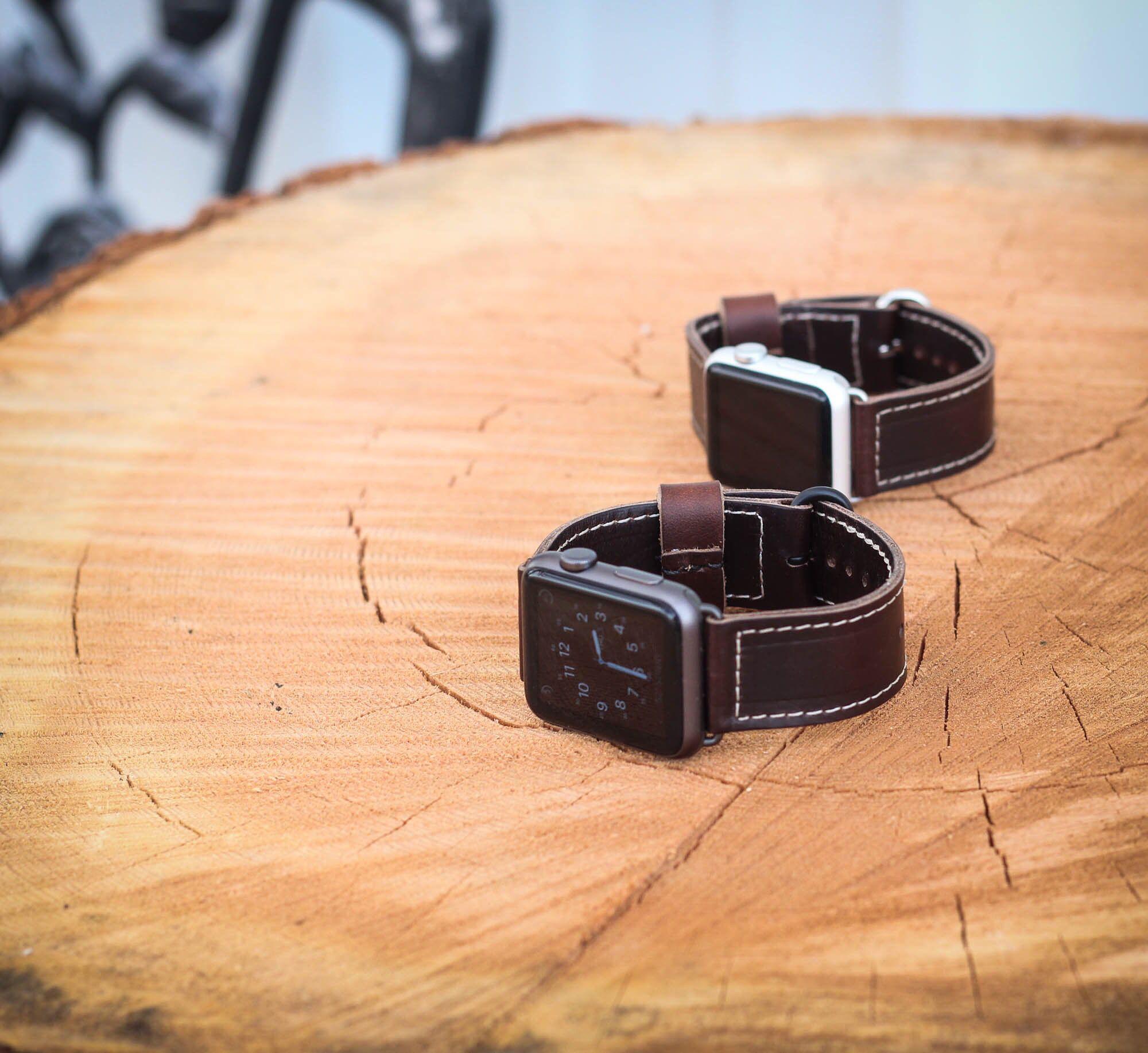 Premium Full Grain Leather Apple Watch Straps! Apple