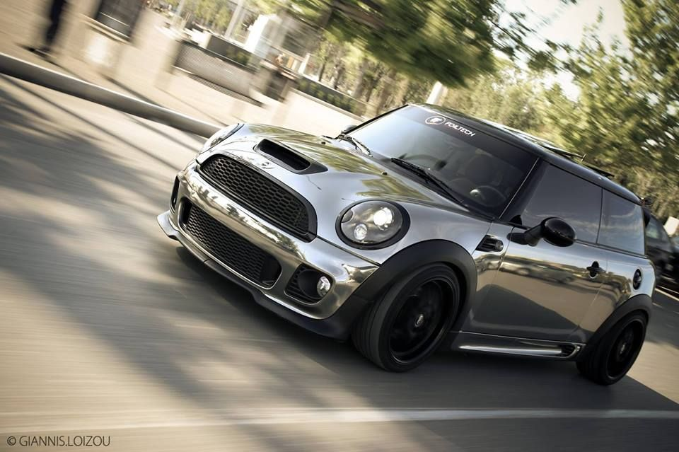 mini cooper s tuning kit john cooper works grey black roof black wheels cars pinterest. Black Bedroom Furniture Sets. Home Design Ideas