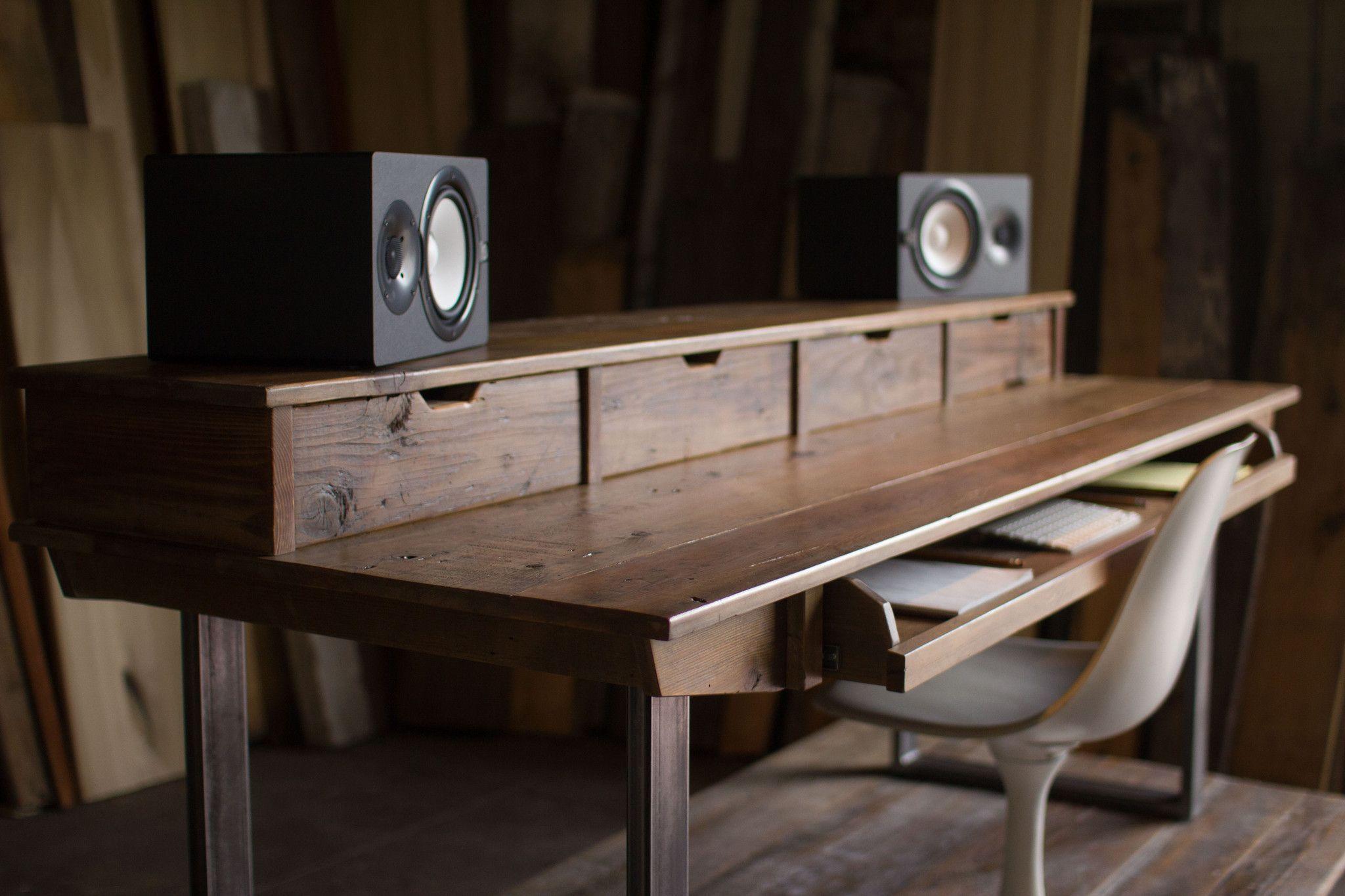 Reclaimed 88 Key Studio Desk For Audio / Video / Music