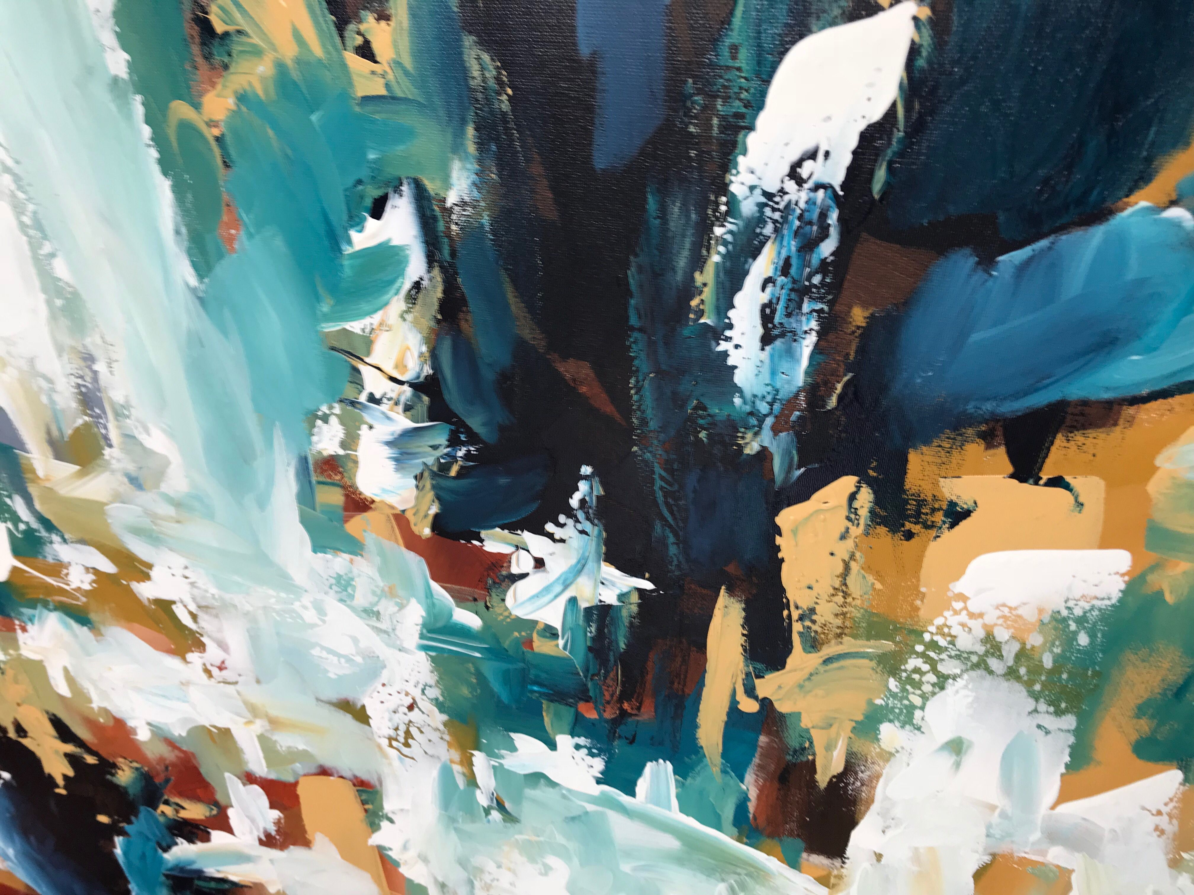 Here Is A Close Up Photo Of One Of My Latest Paintings Titled Hurricane I Used My Favourite Tool T In 2020 Modern Art Paintings Abstract Abstract Abstract Artists