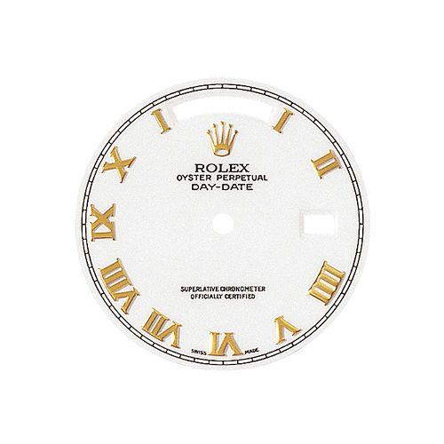 GENUINE ROLEX DAY DATE REF. 118238 WHITE ROMAN NUMBERS  BRAND NEW + HANDS SET