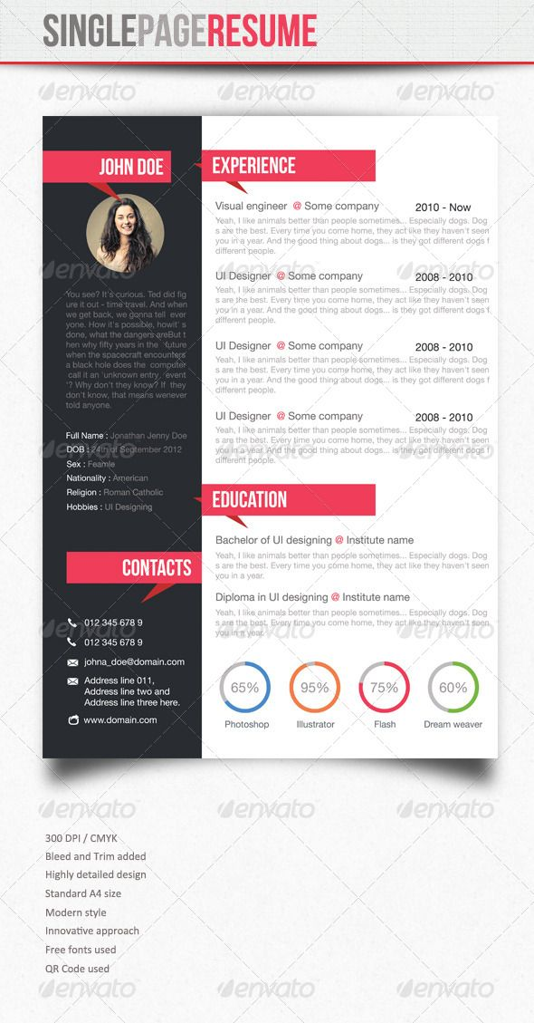 Simple Resume Simple resume, Design resume and Cv template - a simple resume
