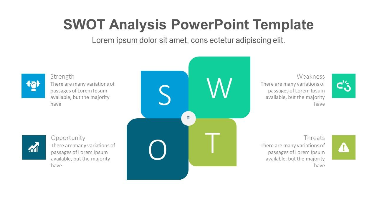 Modern SWOT PowerPoint Template...Fully editable PowerPoint slides ...