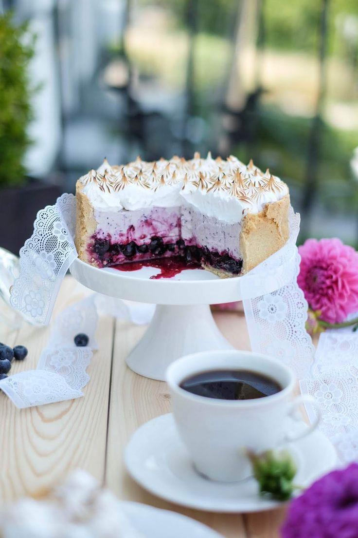 Blueberry meringue pie   - Kuchen & Torten -