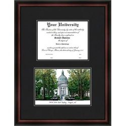 University of Houston Diploma Frame /& Lithograph Print
