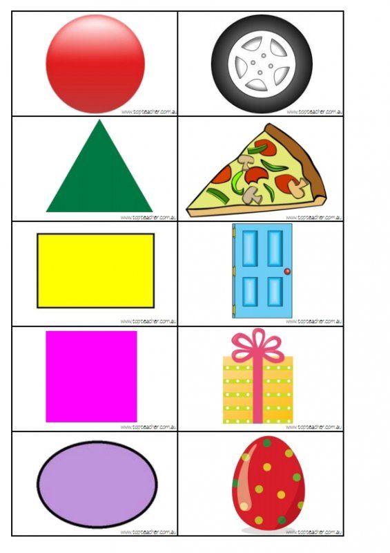 2d Shape Matching Shape To Real Life Object 2d Shapes Shapes Kindergarten Shapes Worksheets Two dimensional shapes worksheets