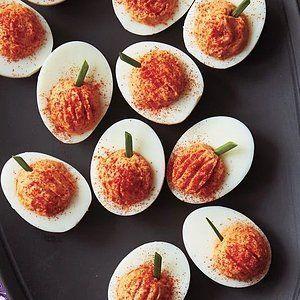 Thanksgiving Deviled Egg Recipes #halloweendeviledeggs